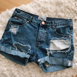 one by one teaspoon pacifica charger shorts